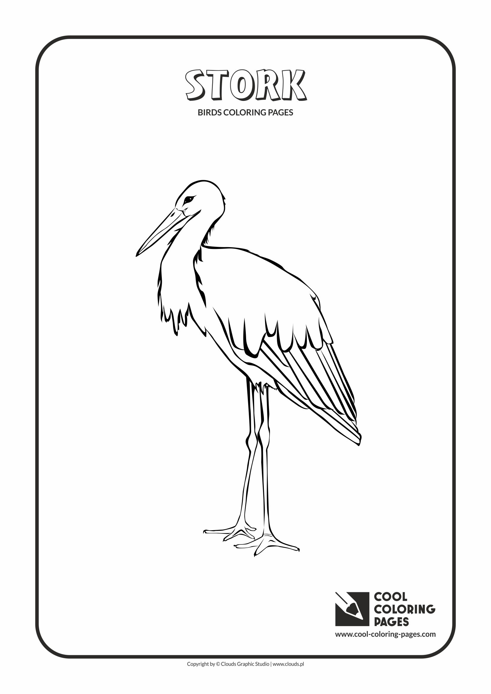1654x2339 Cool Coloring Pages Stork Coloring Page