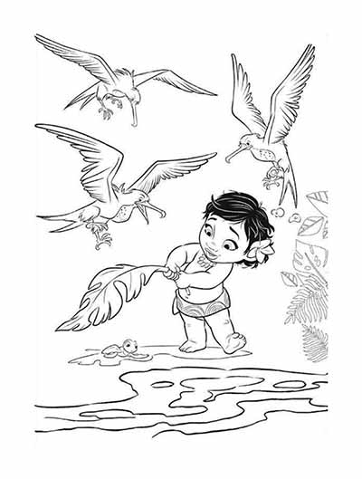 400x529 Baby Moana Coloring Pages