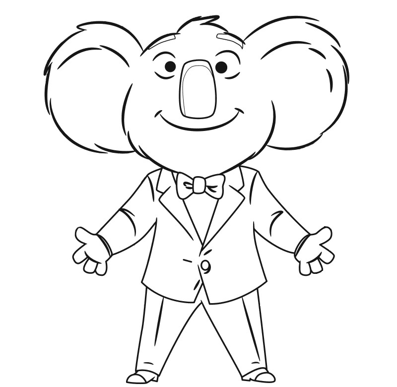 800x780 Top Sing Movie Coloring Pages