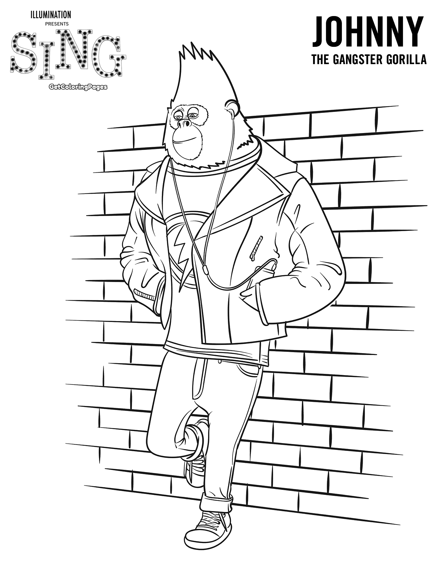 1400x1800 Top Sing Movie Coloring Pages