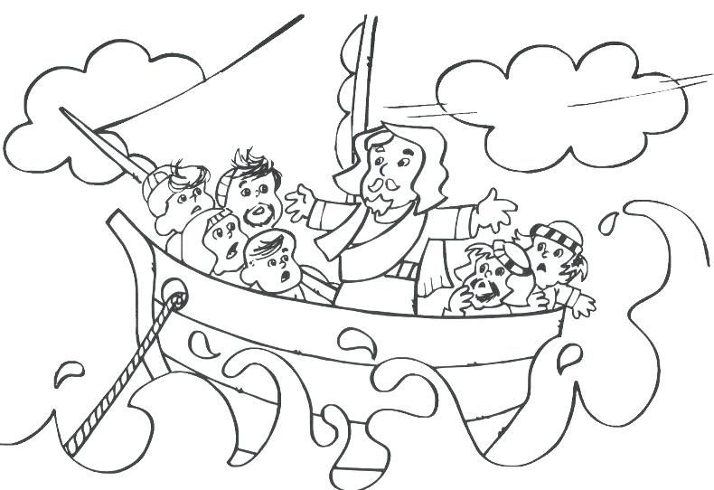 790x542 Jesus Calms The Storm Coloring Page Calms The Storm Coloring Page