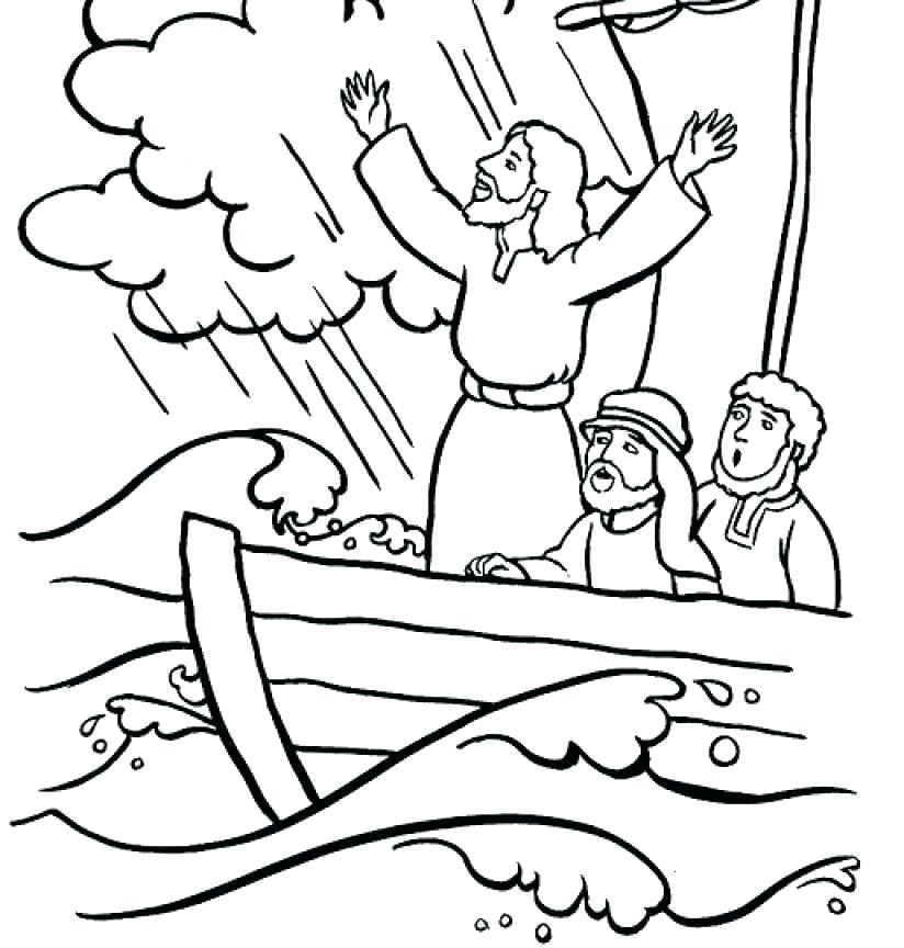 824x864 Jesus Calms The Storm Coloring Page Calms The Storm Coloring Pages