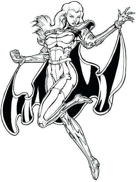 461x600 Amazing Storm Coloring Pages Amazing Storm Coloring Pages X Men