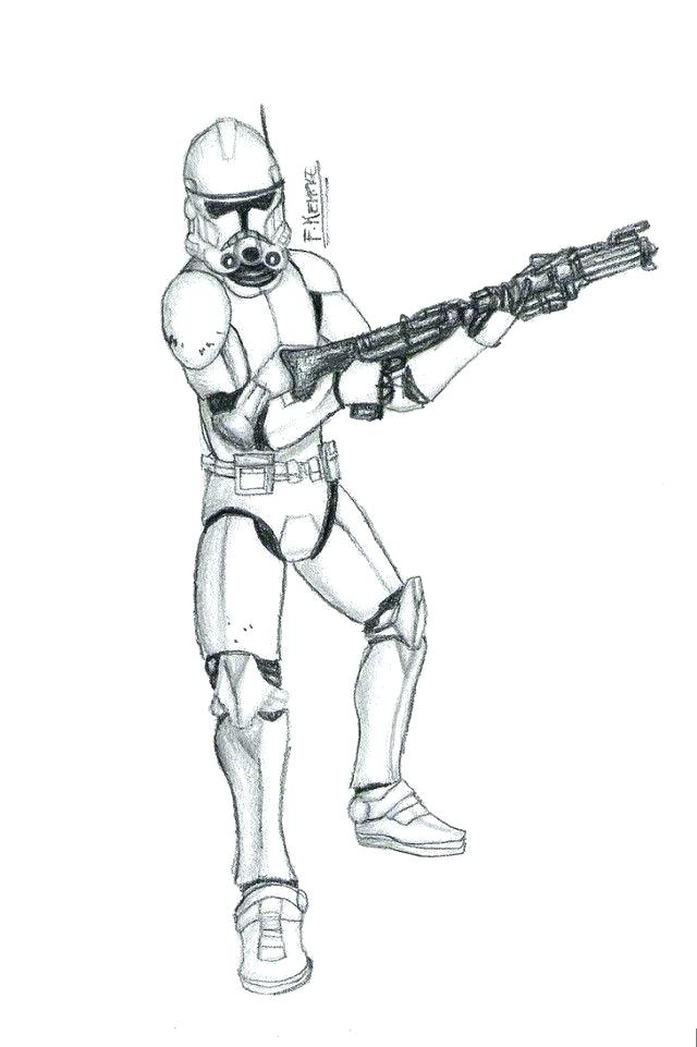 640x961 Star Wars Printable Coloring Pages Clone Trooper Coloring Pages