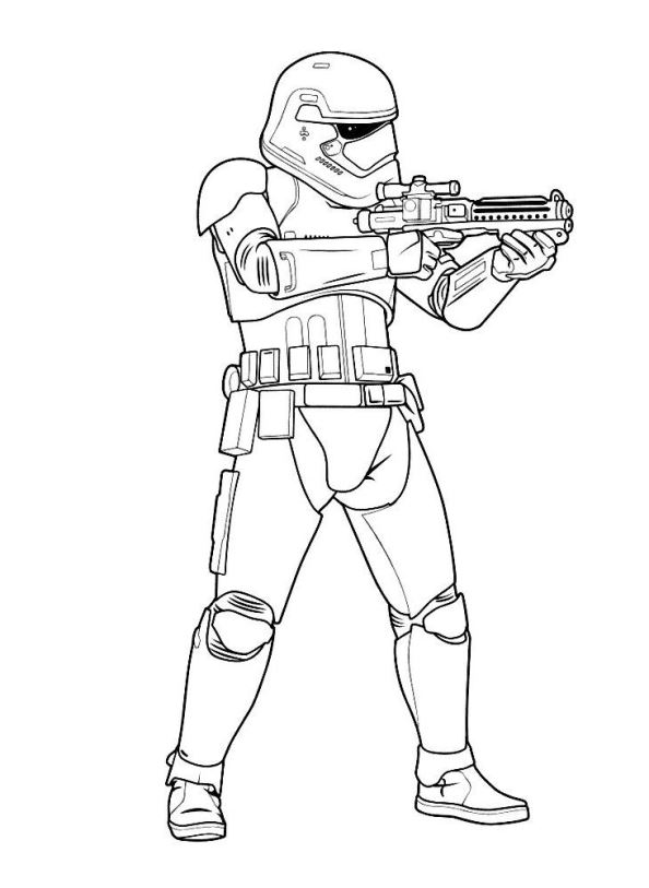 594x813 Storm Trooper Coloring Book Page