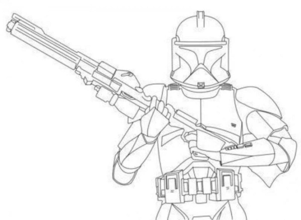 1024x748 Storm Trooper Coloring Page