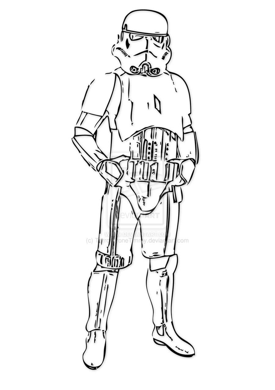 900x1274 Storm Trooper Coloring Page