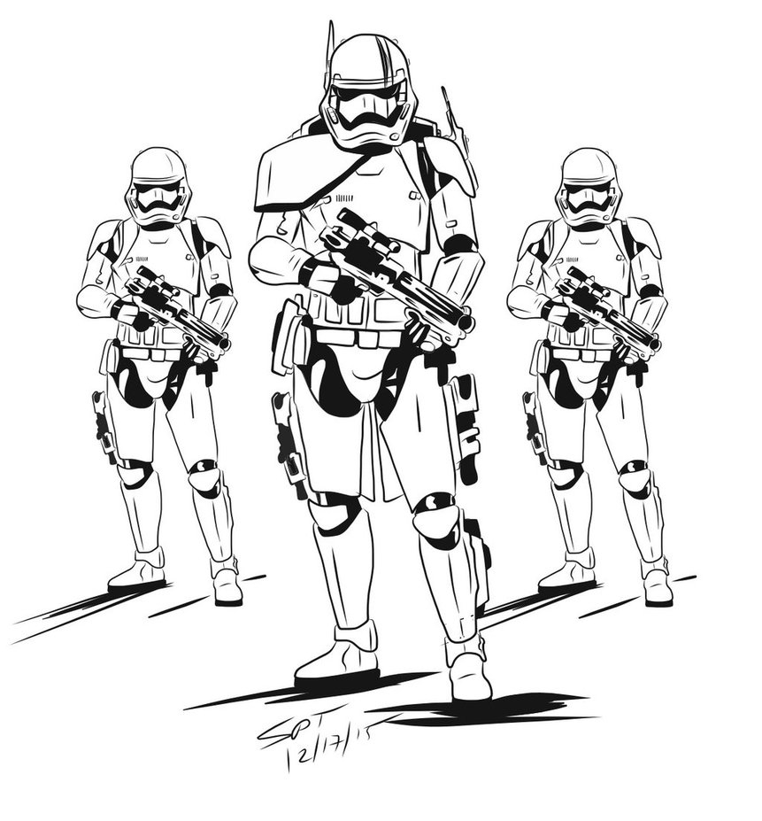 861x927 Easy Stormtrooper Coloring Pages Printable Star Wars Hellokids Com