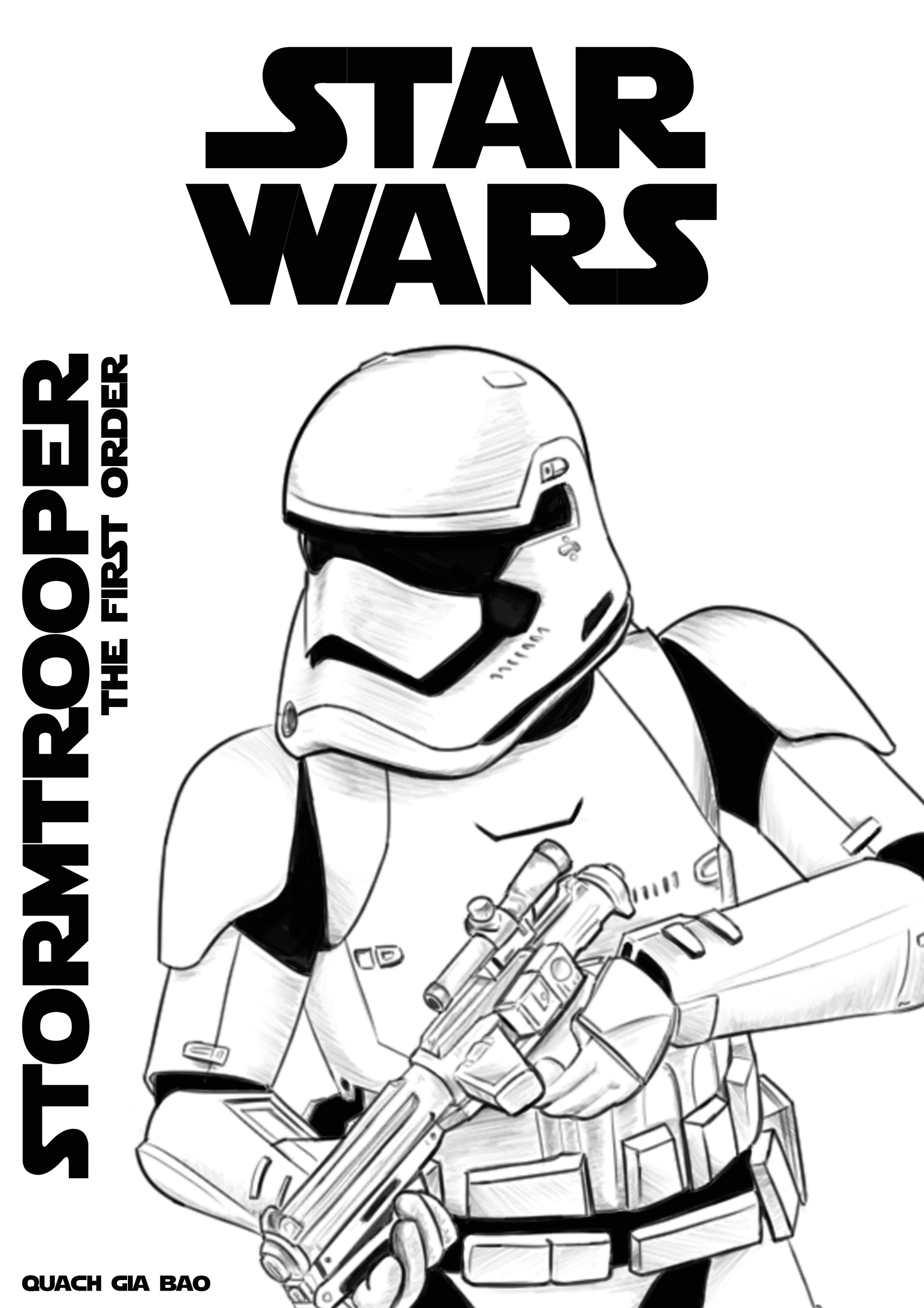 photograph relating to Stormtrooper Printable named Stormtrooper Coloring Web page at  Absolutely free for