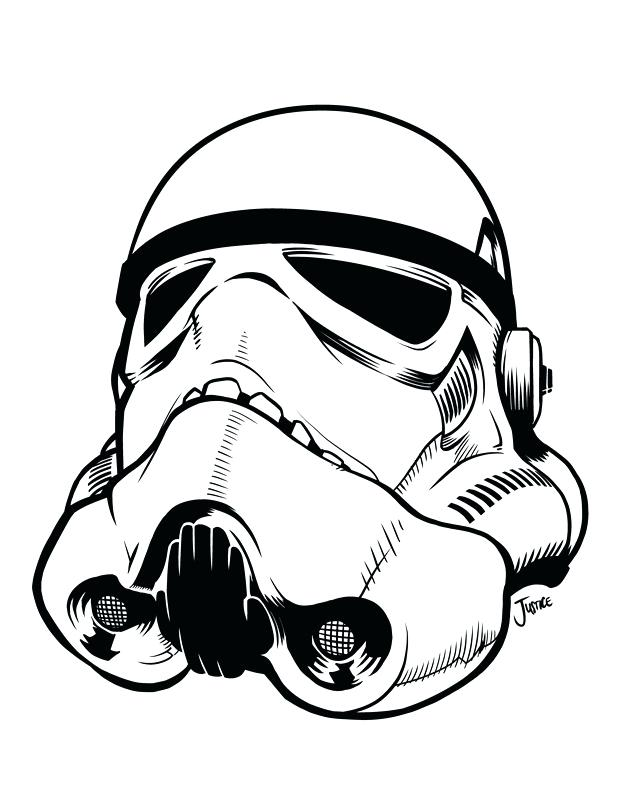 photo about Stormtrooper Printable called Stormtrooper Helmet Coloring Webpage at  Cost-free