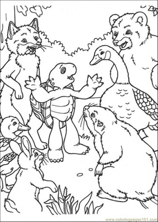650x912 Franklin Tells A Story To His Friends Coloring Page