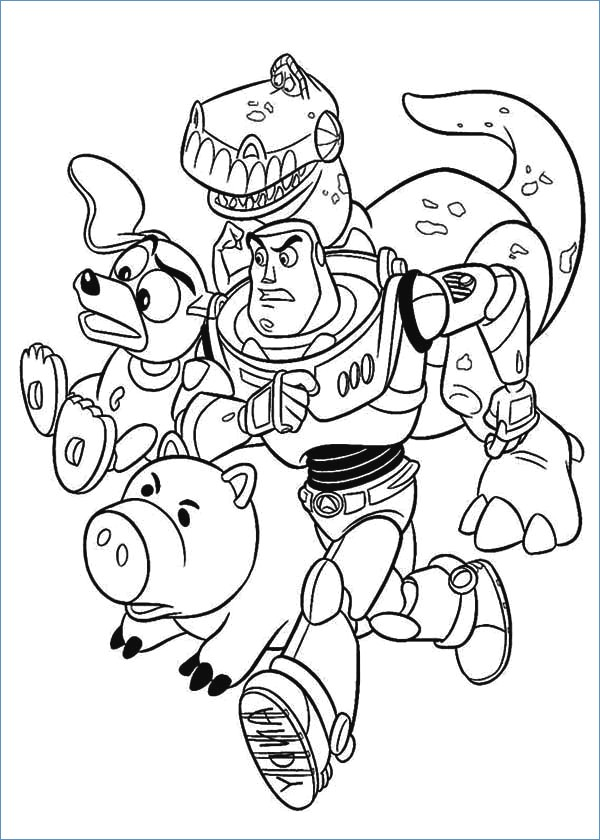 600x840 Rex Dinosaur Toy Story Coloring Pages