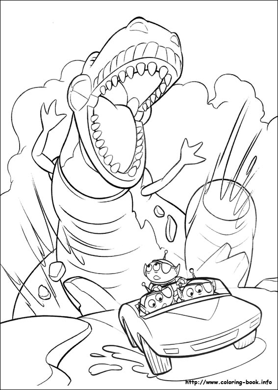 567x794 Toy Story Coloring Picture