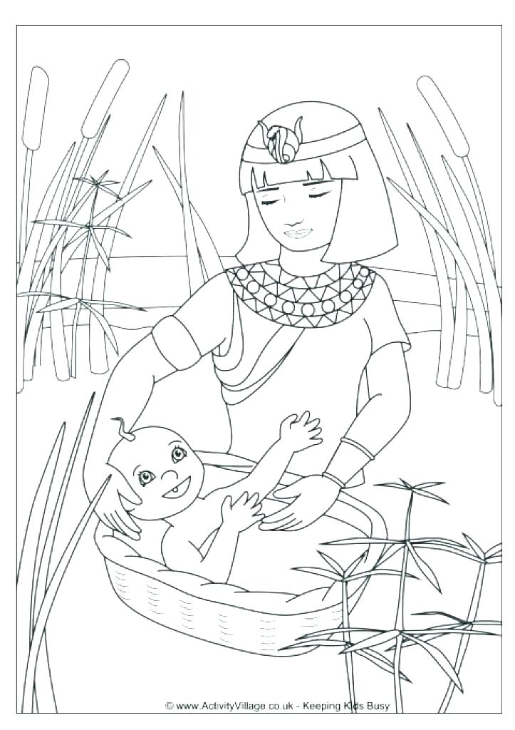723x1024 Moses Story Coloring Pages
