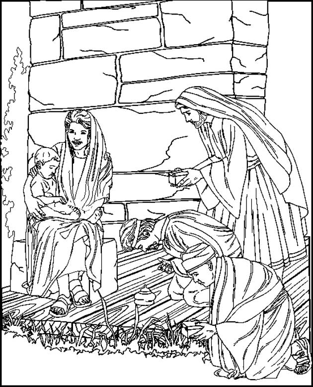 630x778 Kids N Coloring Pages Of Bible Christmas Story