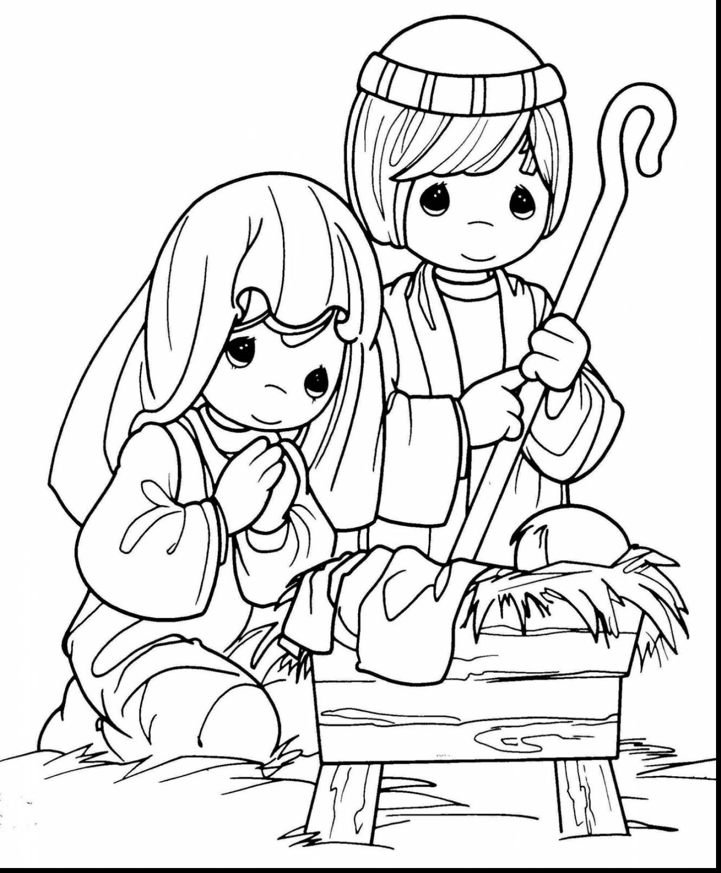 1453x1760 New Coloring Pages Of Jesus Birth Story Christmas Bible Throughout