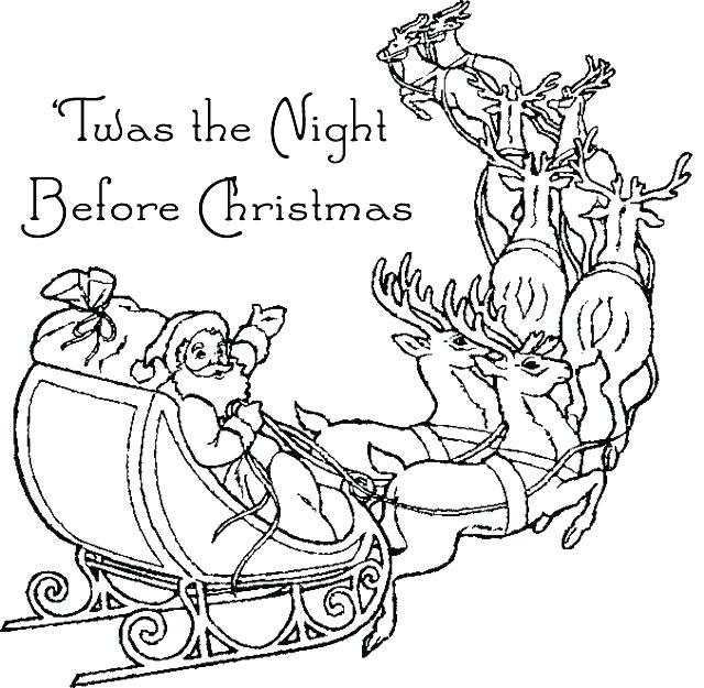 640x625 Night Before Christmas Coloring Pages The Nightmare Before