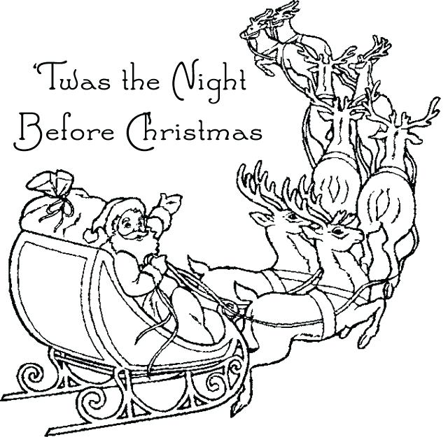 640x625 Night Before Christmas Coloring Pages Twas The Night Before Power