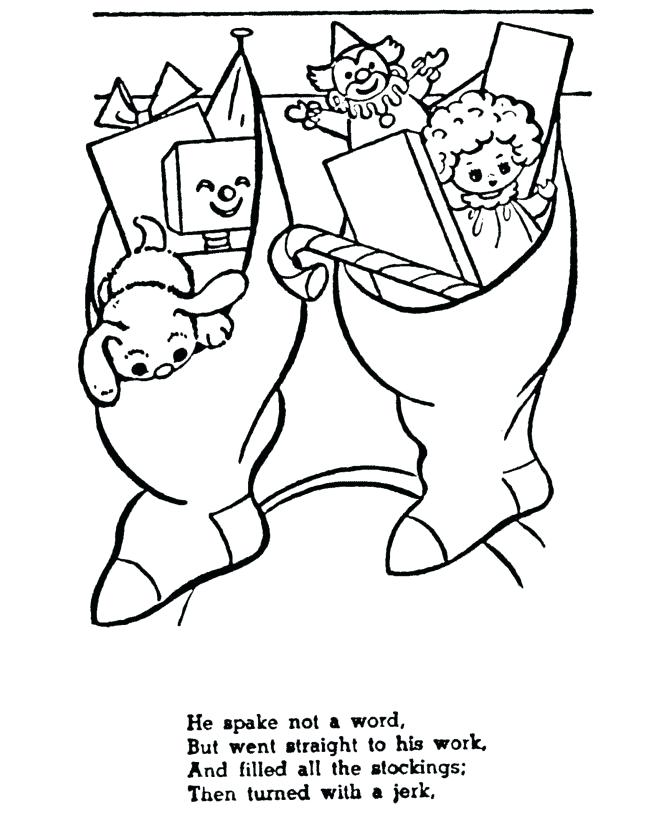 670x820 The Night Before Christmas Coloring Pages Story Coloring Pages