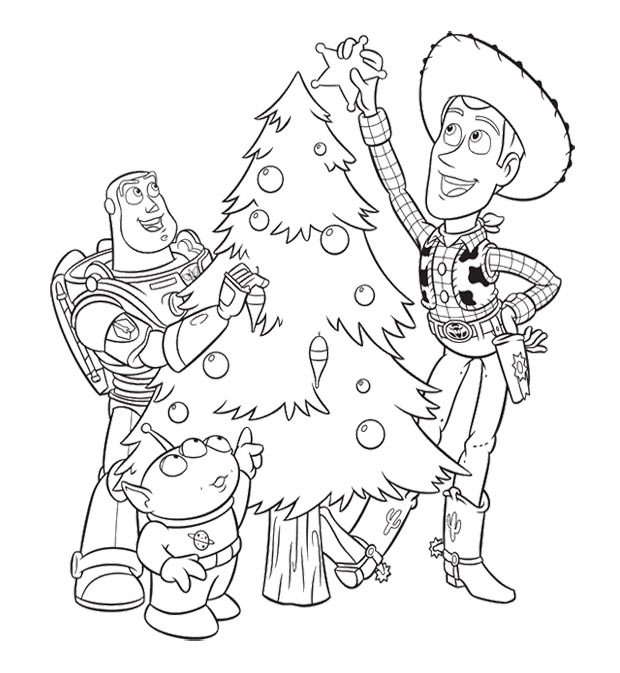 620x673 Toy Story Christmas Coloring Pages