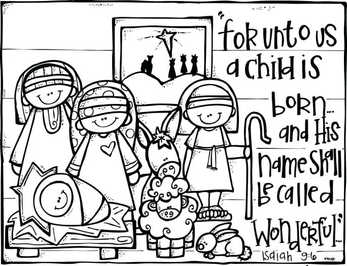 687x527 Twas The Night Before Christmas Coloring Pages Medium Size