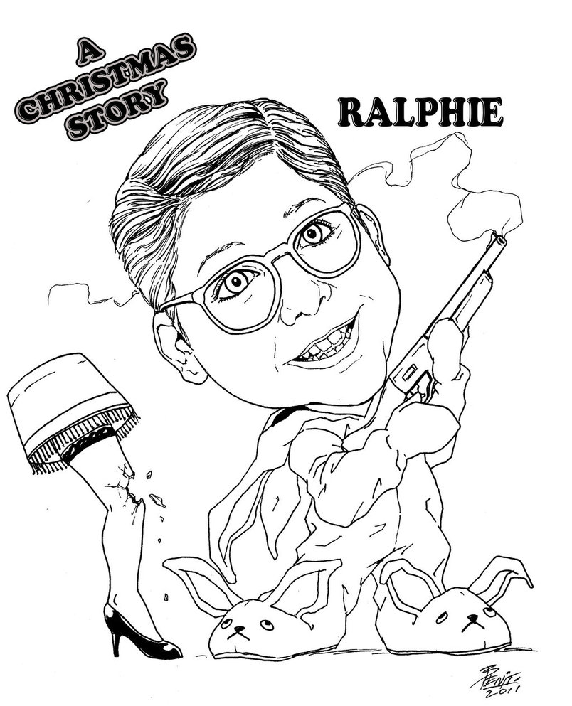 804x993 A Christmas Story Move Coloring Page And Pages