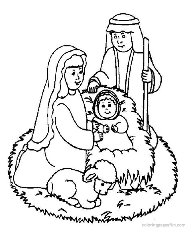 656x800 Bible Coloring Pages For Christmas