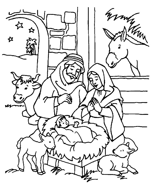 652x779 Christmas Christian Coloring Pages