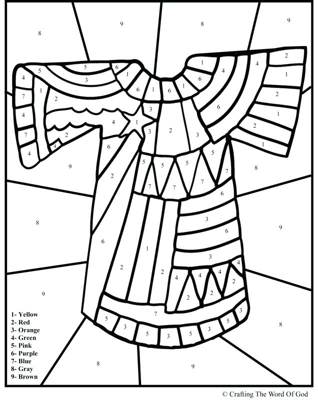 636x800 Joseph Bible Coloring Pages S Coat Old Testament Coloring Pages