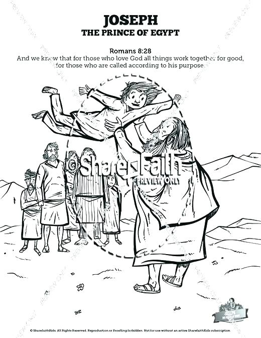520x673 Joseph Coloring Pages Bible Coloring Pages Interesting In Prison