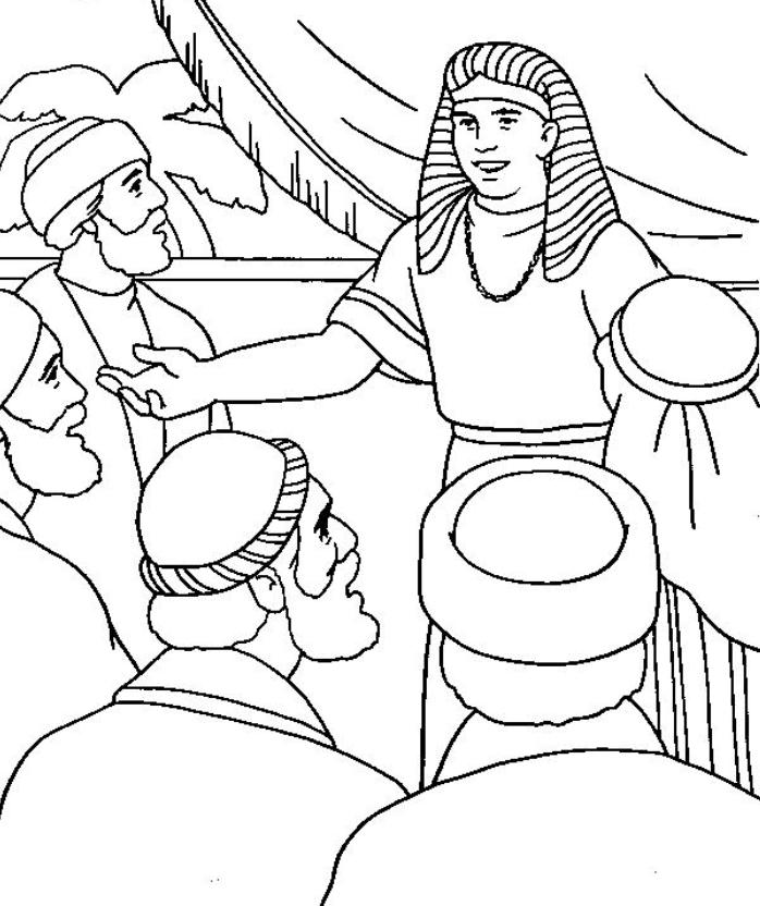 698x832 Joseph Reunited With His Brothers Coloring Page Best Photos