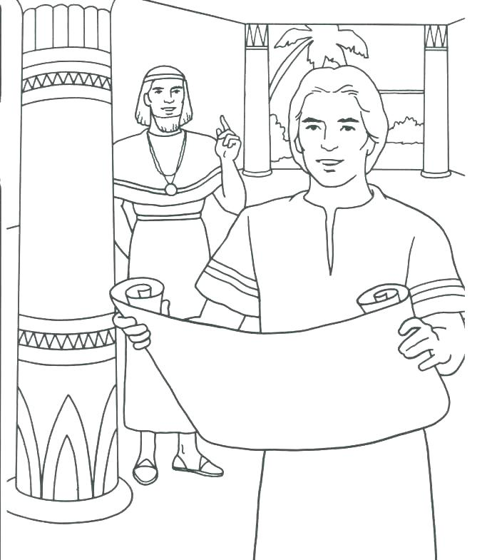 690x785 Coat Of Many Colors Coloring Page Multicolored Coat Coat Of Many