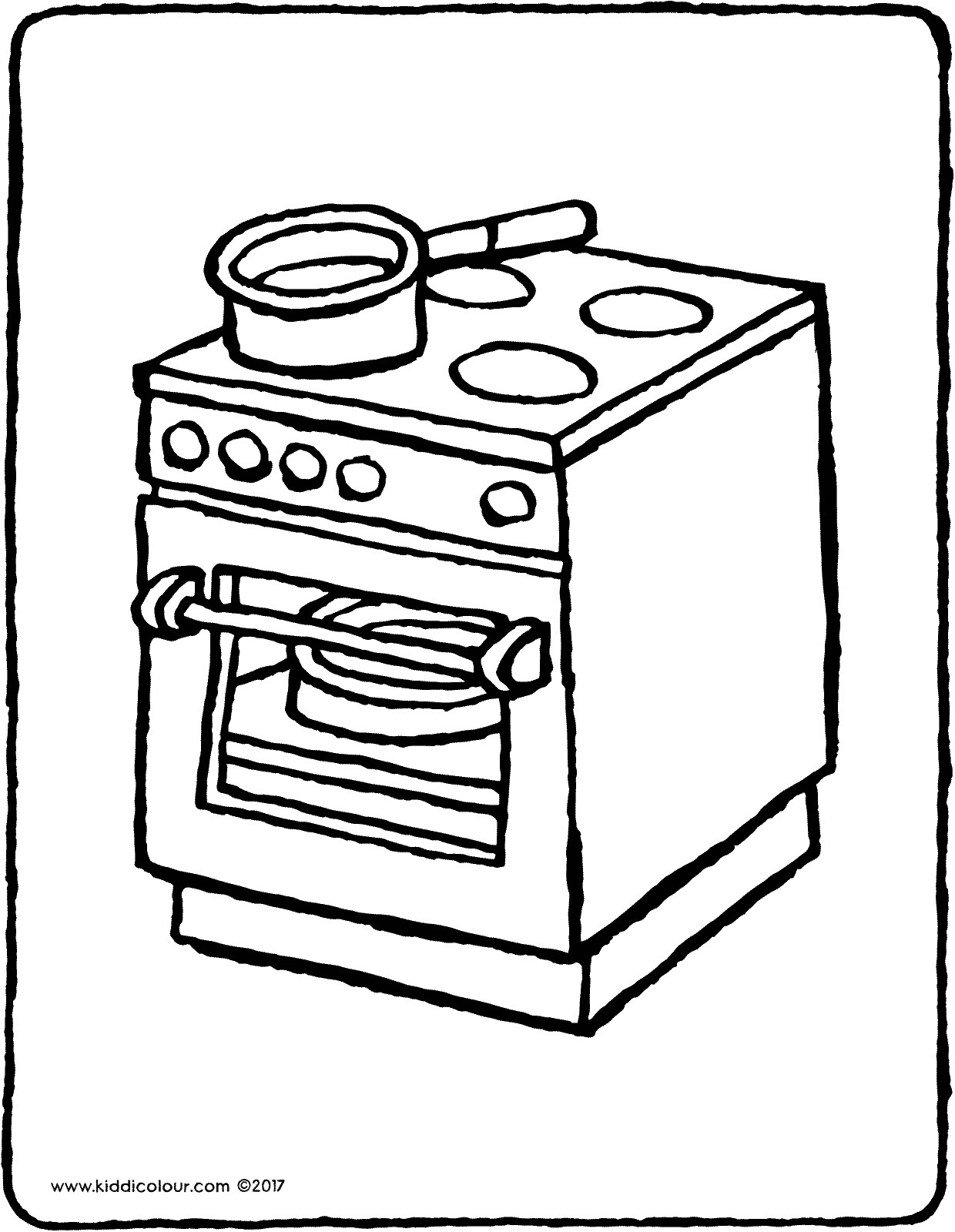 1240x1600 Cooker Colouring Page Oven Coloring