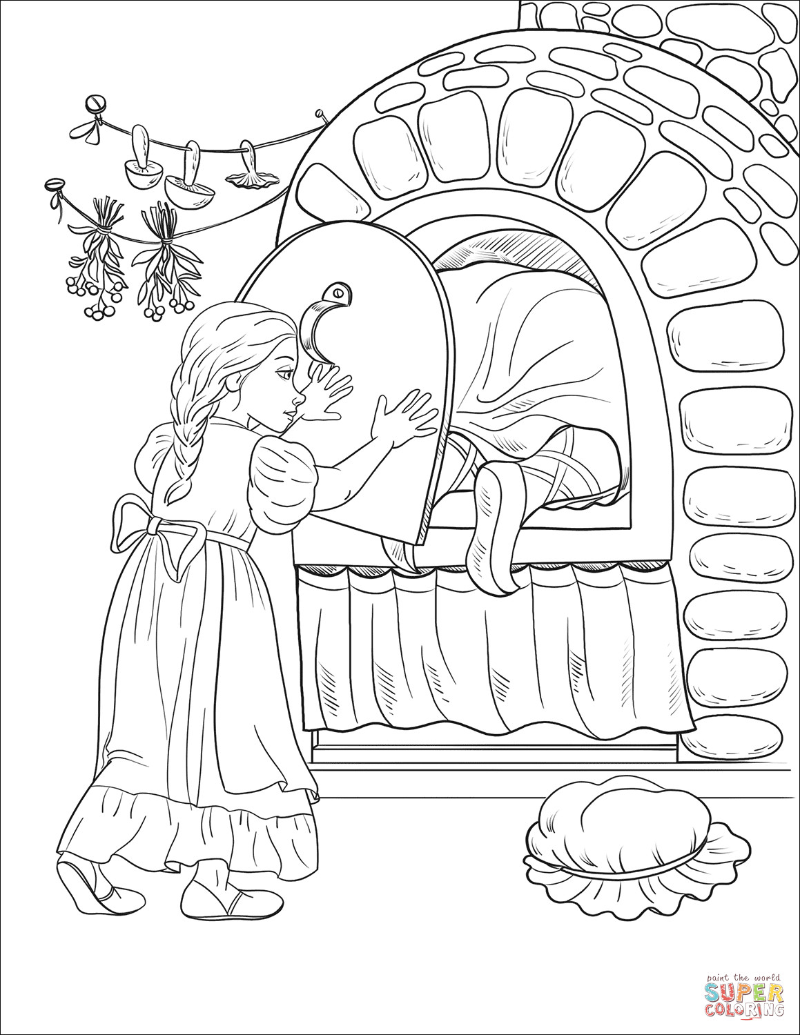 1159x1500 Illustration Stove Oven Coloring Page