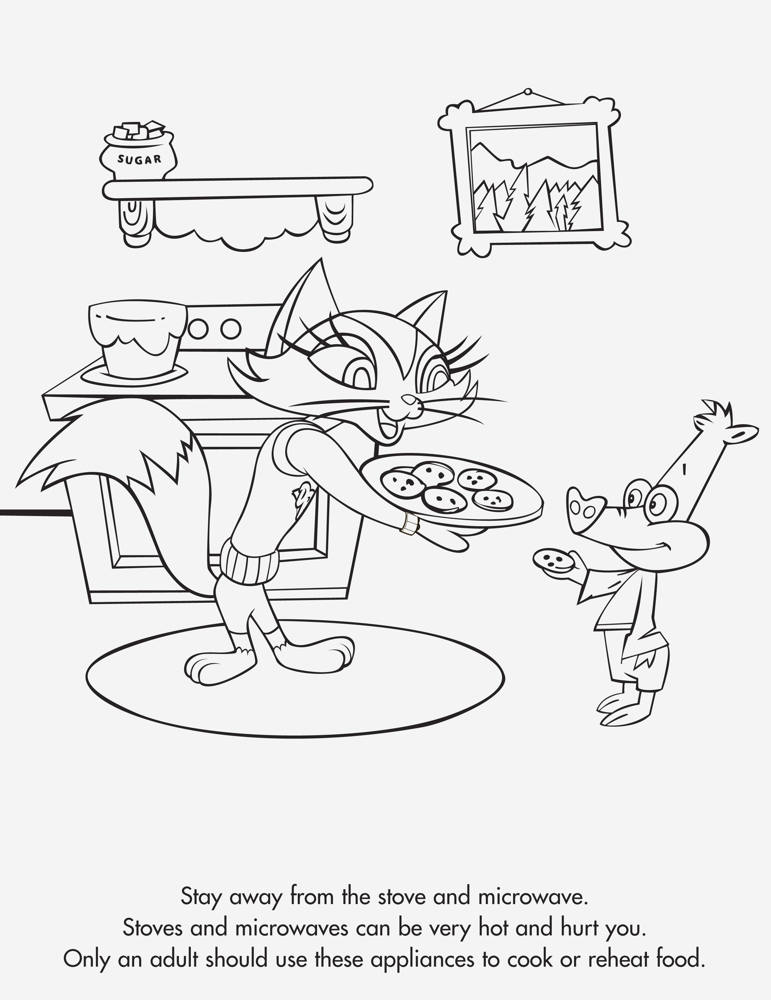 2517x3263 New Coloring Pages Kitchen Coloring Page Colette In The Pages