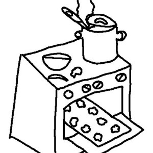300x300 Oven Coloring Pages