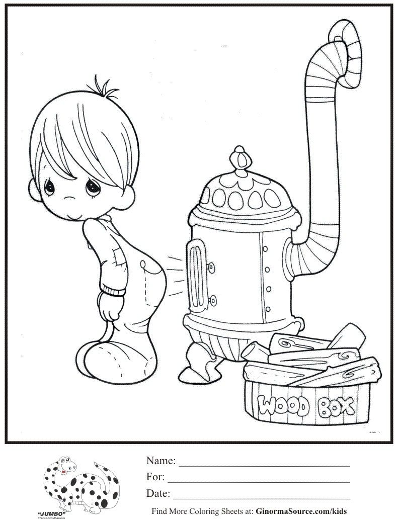 791x1050 Coloring Pages Precious Moments