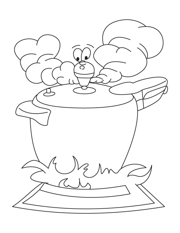 612x792 Pressure Cooker Coloring Page Download Free Pressure Cooker