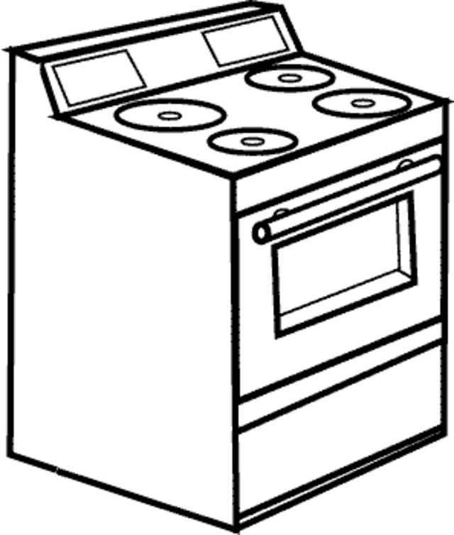 640x754 Stove Top Coloring Pages