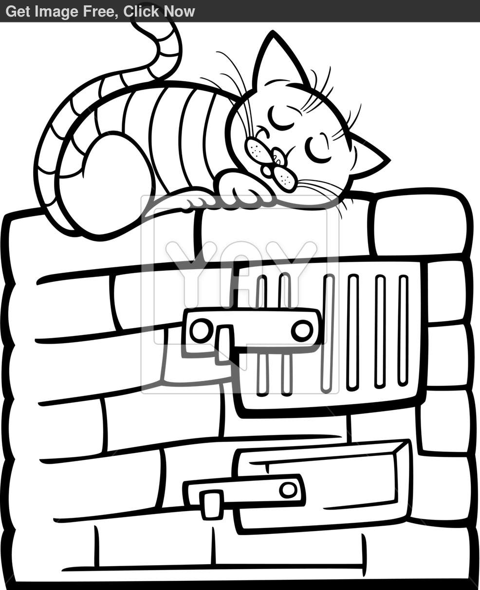 986x1210 Stove Coloring Page