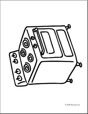 304x392 Clip Art Basic Words Stove
