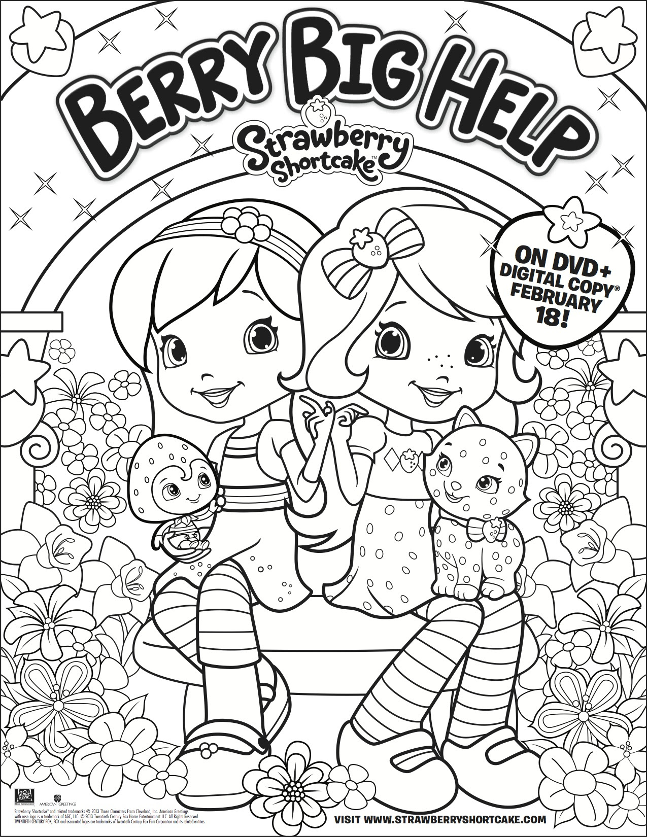 1275x1650 Strawberry Shortcake Coloring Pages Strawberry Shortcake Coloring