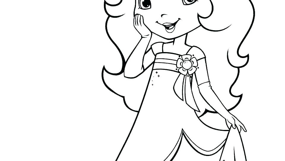 photo regarding Strawberry Shortcake Printable Coloring Pages known as Strawberry Coloring Web page at  Cost-free for