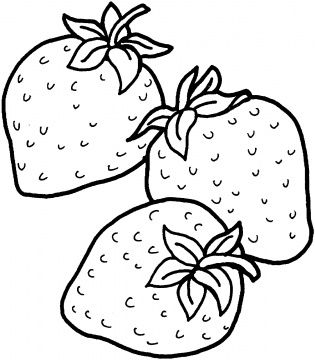 315x360 Two Strawberries Coloring Page Super Coloring Work Ideas
