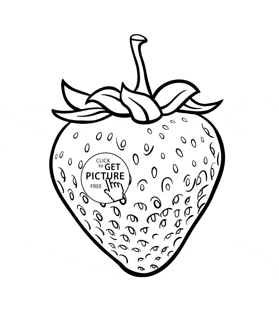 1071x1193 Strawberry Coloring Page Printable Free Coloring Pages