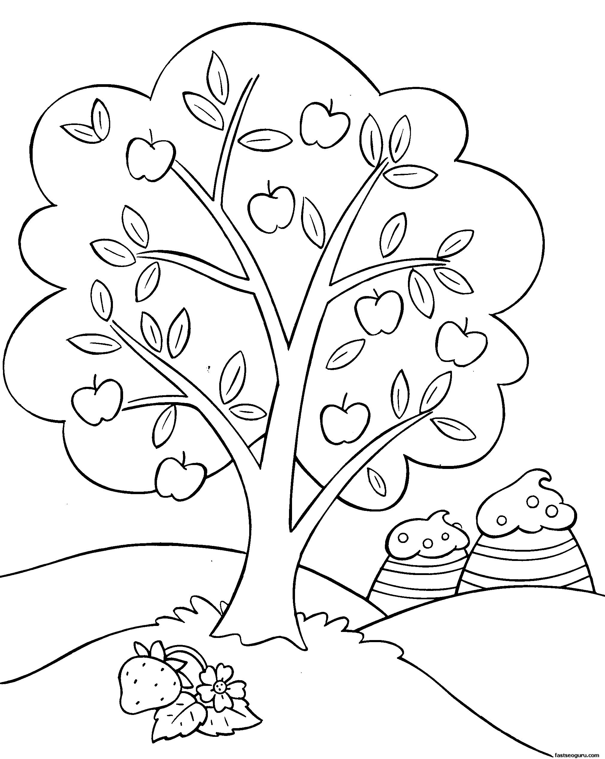 2020x2533 Printable Cartoon Strawberry Shortcake Coloring Pages