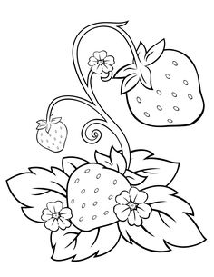 236x305 Printable Strawberry Coloring Page Free Pdf Download