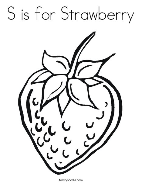 468x605 S Is For Strawberry Coloring Page