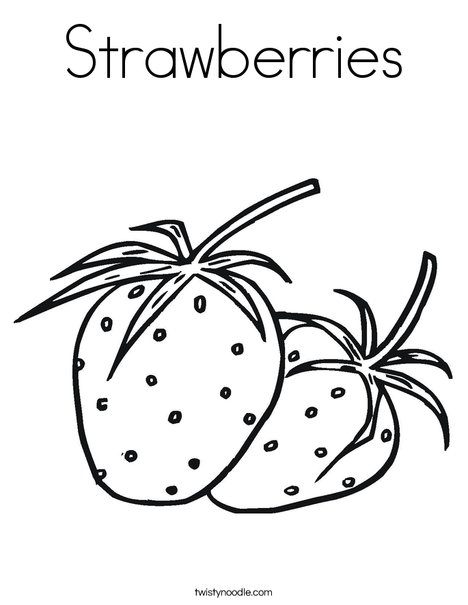 468x605 Strawberries Coloring Page