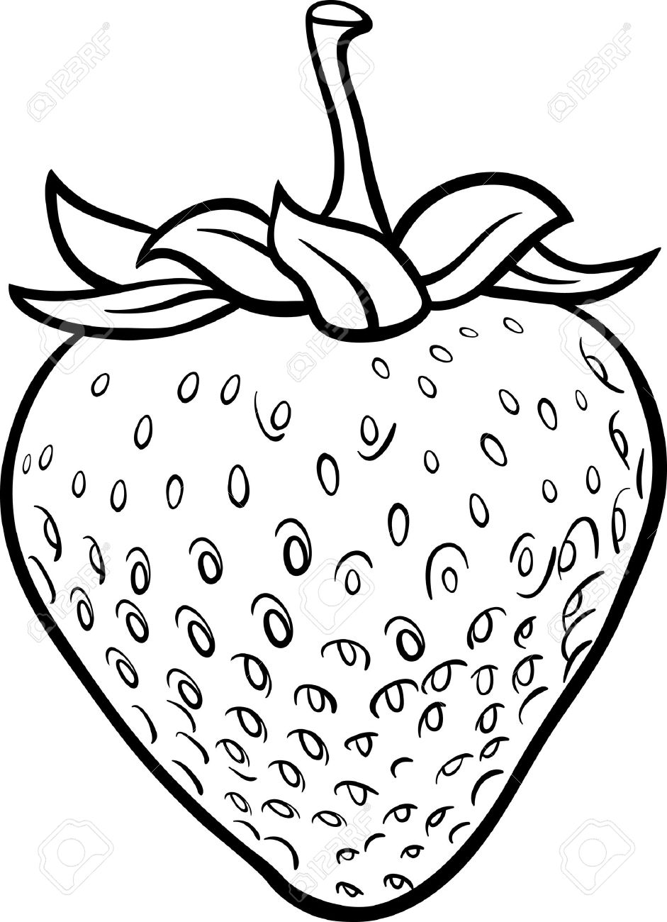 941x1300 Strawberry Cartoon Smiling Coloring Page Fruits Pages General